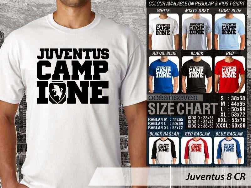 Kaos Bola Juventus 8 Lega Calcio distro