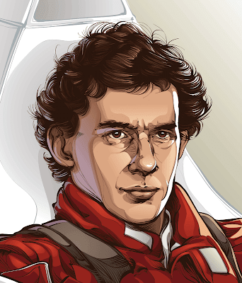 Ayrton Senna - Single page Illustration for ESPN Magazine (Brazil) by CrisVector