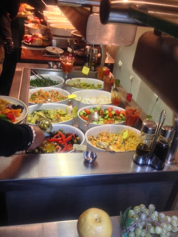 The salad bar at Nabrasa halal rodizio in London