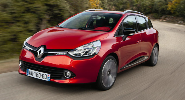 new renault clio estate proves that wagons don 39 t have to look boring. Black Bedroom Furniture Sets. Home Design Ideas