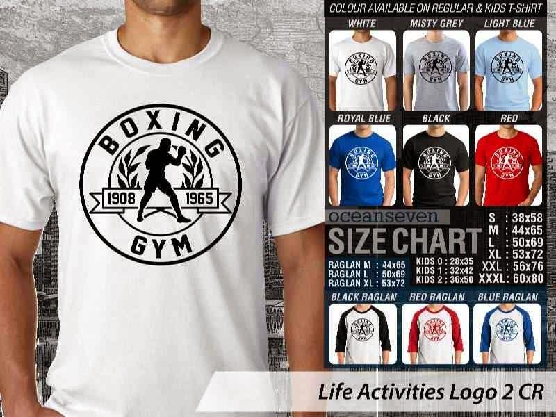 KAOS Boxing Gym Life Activities Logo 2 distro ocean seven