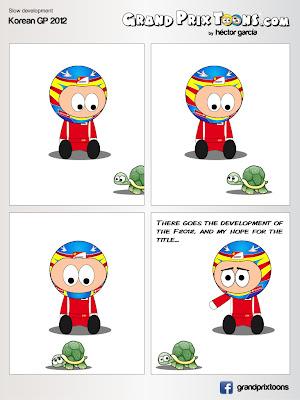 Фернандо Алонсо и развитие Ferrari F2012 - комикс Grand Prix Toons после Гран-при Кореи 2012