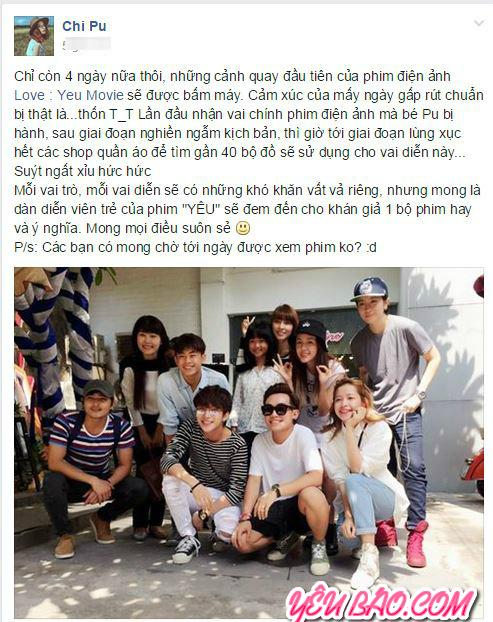 Tiết lộ mới của Chi Pu sẽ có dự điện ảnh lớn đóng với Gil lê và Bê Trần