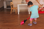 Clean-up is an integral part of the work cycle in the Montessori preschool classrooms. At our Palos Verdes preschool, children enjoy cleaning up using high-quality, child-sized tools.