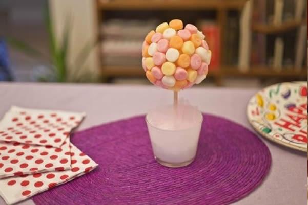 de jujuba para aniversário em EVA e a decoração de mesa para festa