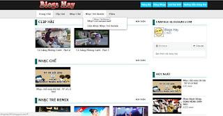 demo trang chủ templates chia sẻ video blogspot