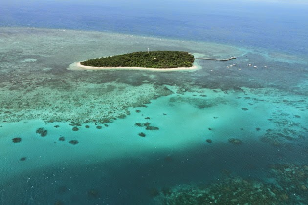 Green Island from the Great Barrier Reef, Australia
