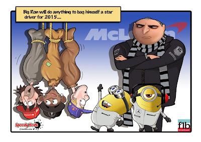 Рон Деннис ищет звёздного пилота на 2015 в McLaren - комикс SpeedyHedz