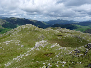 High Knott and Borrowdale from near Bessyboot