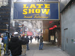We stayed in the same building as the Ed Sullivan theatre - where they film Letterman