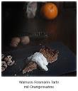Walnuss-Rosmarin-Tarte mit Orangensahne