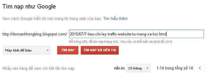 trình quản lý google webmasters