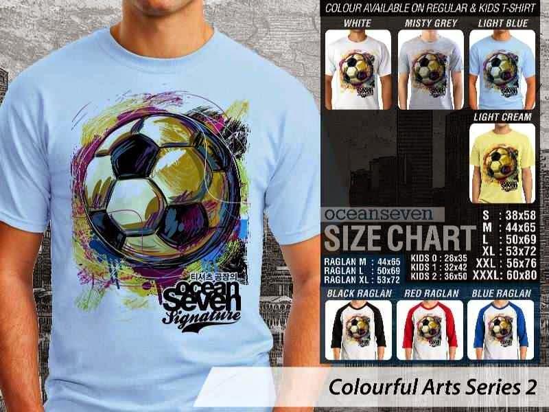 KAOS keren Colourful Arts Series 2 Sepak Bola | KAOS Colourful Arts Series 2 distro ocean seven