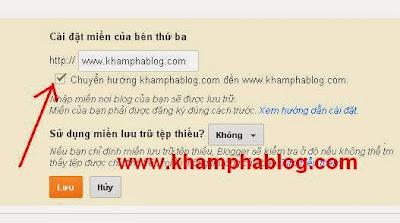 Chuyển hướng doman blogspot