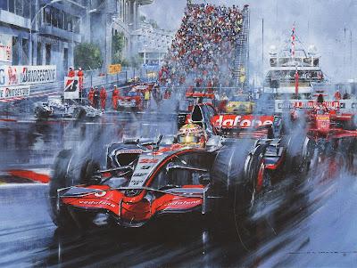 Льюис Хэмилтон мчится к победе за McLaren на Гран-при Монако 2008