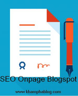 seo onpage for blogspot and website