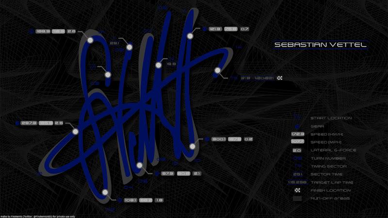 гоночный трек в виде автографа Себастьяна Феттеля by Finsternis483