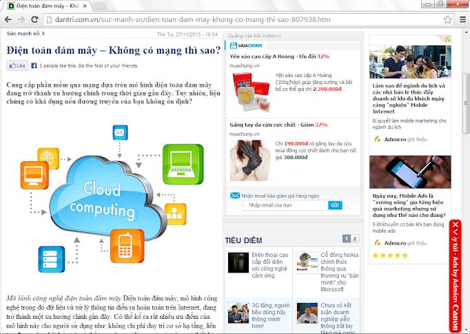 Báo điện tử Dân Trí nói về Kiot Việt