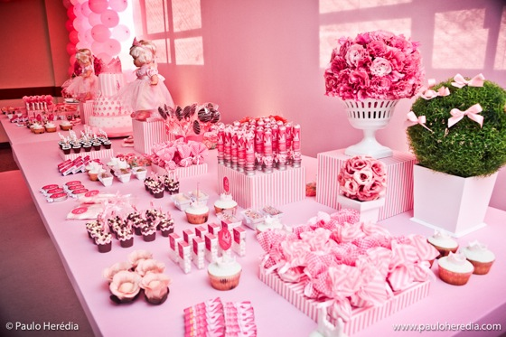 Pink Princess Dessert Table