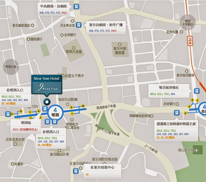 首爾明洞九樹飯店 (Nine Tree Hotel) map
