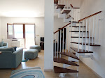 open plan staircase and lounge