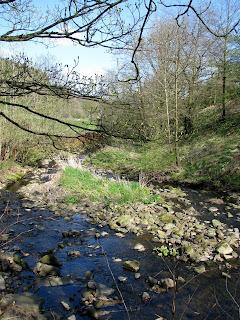 Stream on way back into Barley village