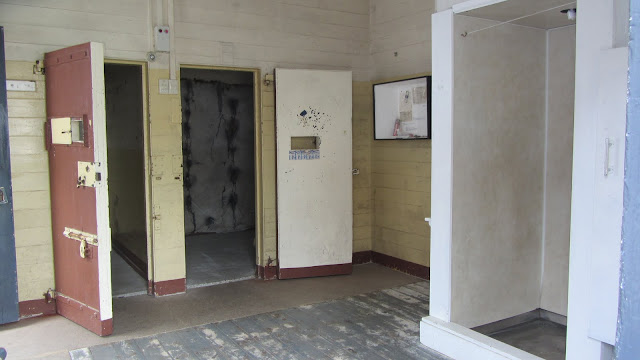A couple of isolation cells - the one at right is padded.