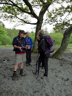 John and Francis in deep discussion before we set off towards Catbells. Ah John has shorts on too.