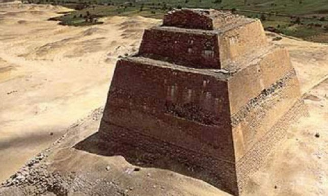 Meidum Pyramid site under restoration in Upper Egypt