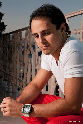 фотосессия Фелипе Массы для рекламы часов