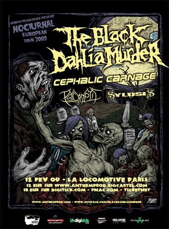 The Black Dahlia Murder / Cephalic Carnage / Psycroptic / Sylosis @ la Locomotive, Paris 12/02/2009