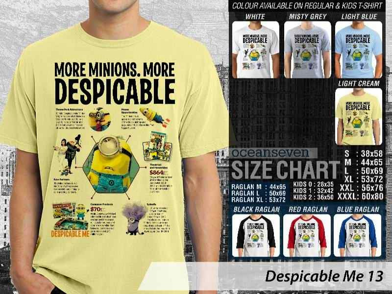KAOS Despicable me 13 Movie Animation distro ocean seven