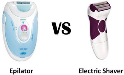 difference between epilator and electric shaver