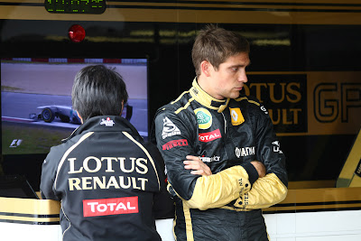 Аяо Комацу и Виталий Петров на Гран-при Германии 2011