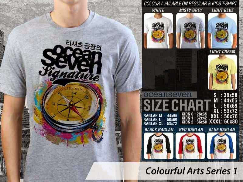 KAOS keren Colourful Arts Series 1 Kompas | KAOS Colourful Arts Series 1 distro ocean seven
