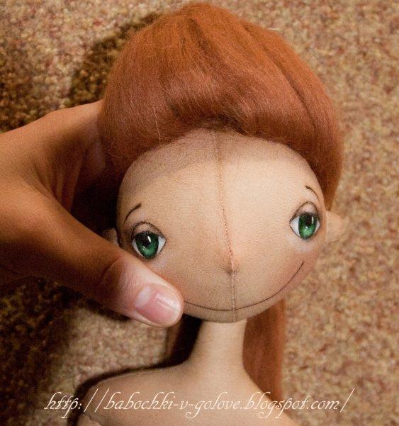 Волосы для куклы из ткани своими руками 79