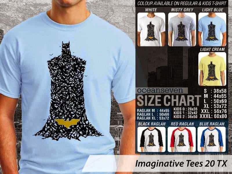 Kaos keren Imaginative Tees 20 Batman distro ocean seven