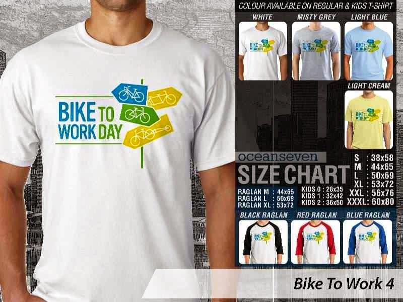 KAOS Bike To Work 4 Sepeda Lovers bicycle distro ocean seven