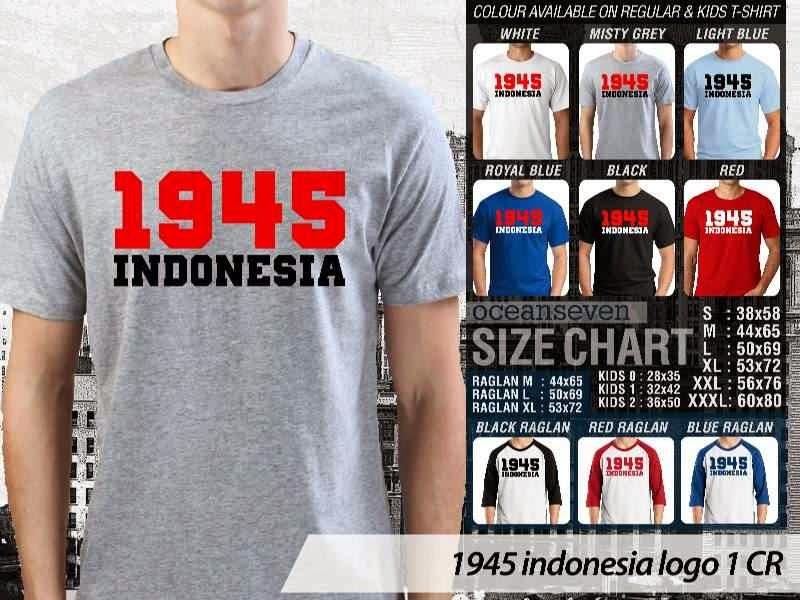 KAOS 1945 Indonesia logo 1 distro ocean seven