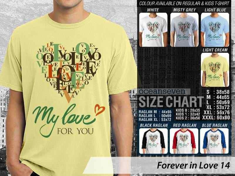 KAOS Pasangan My love for you |KAOS Forever in Love 14 distro ocean seven
