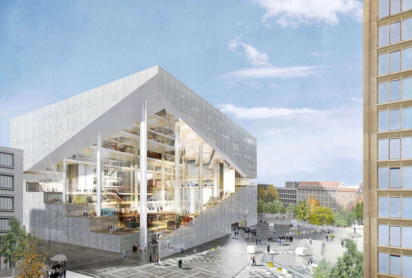 Berlino, Germania: Oma Wins Axel Springer'S New Media Centre Competition