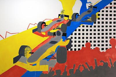 рисунки на стенах на автодроме Сахир на Гран-при Бахрейна 2012
