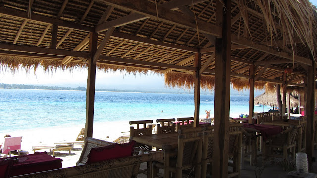 Chill Out Cafe - one of our favorites on Gili Air - sits next to the most attractive beach on the island.