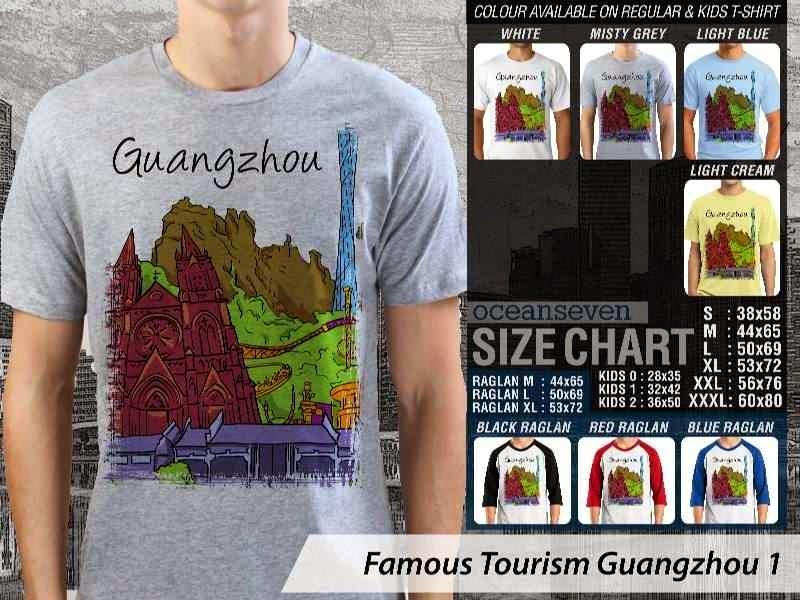 Kaos Wisata Guangzhou 1 China distro ocean seven