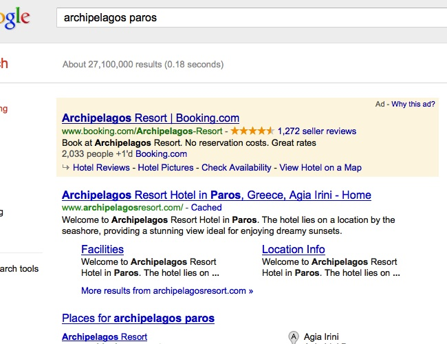 Nelios.com Hotel Adwords Case
