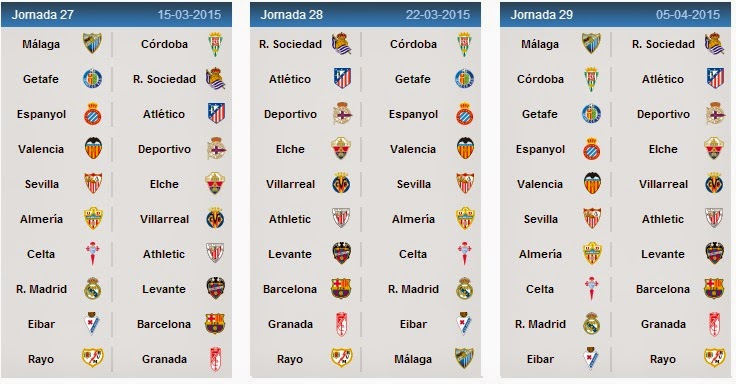 laliga standings and fixtures