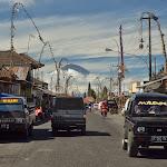 wioska Kintamani i zapierający dech w piersiach widok na wulkan Agung