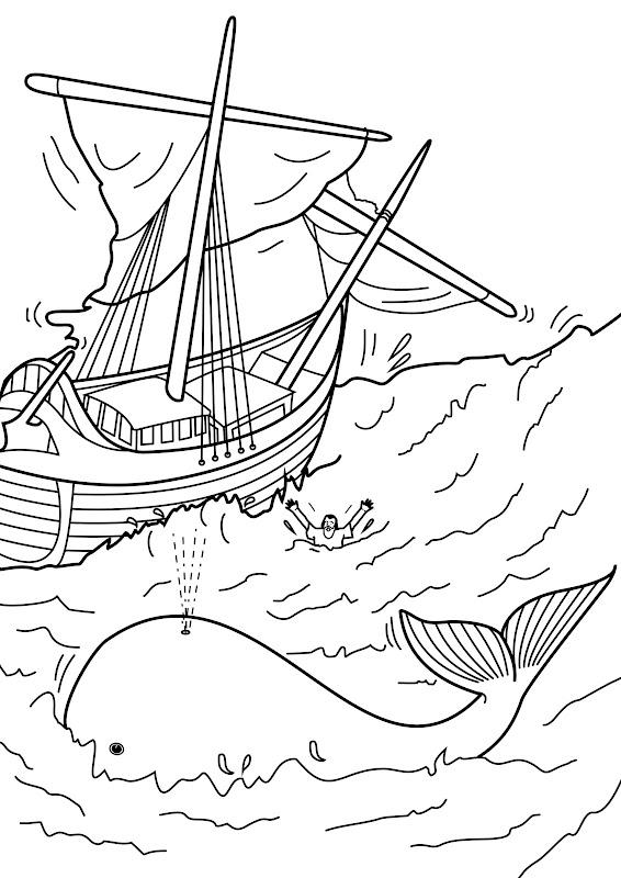 Similiar Jonah Runs Away Coloring Page Keywords