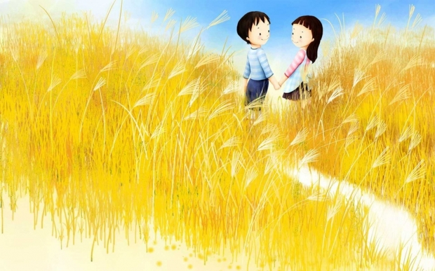 Ảnh tình yêu hoa cỏ may