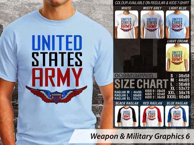 KAOS Militer US Army Weapon & Military Graphics 6 distro ocean seven
